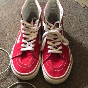 Classic high top red&white vans